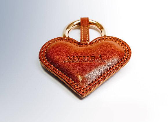 Heart Shape Key Chain (Brown)