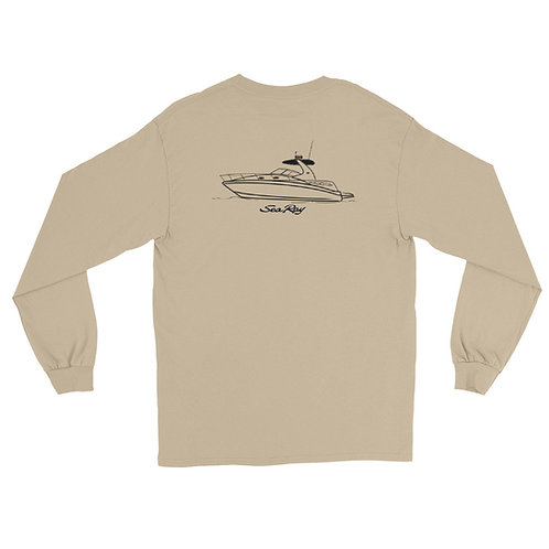 Men's Sea Ray 320 Line Drawing Long Sleeve Shirt