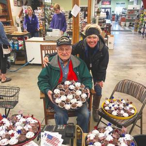 Gave Hoopers cupcakes to give away on Memorial Weekend