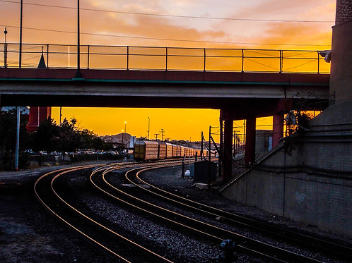 Tracks of Sunset Photo Print