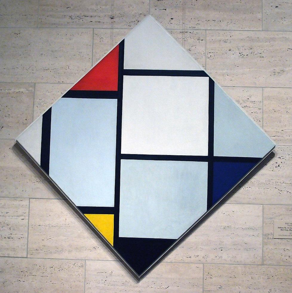 carrés peints