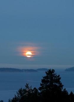 Moonrise over the Gulf Island