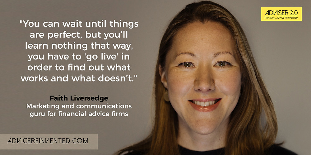 Faith Liversedge, marketing expert to financial advisers