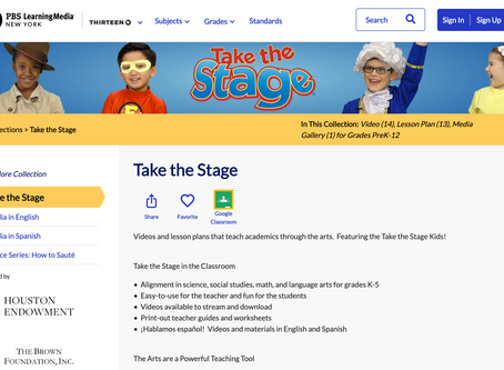 Take the Stage launches on PBS LearningMedia