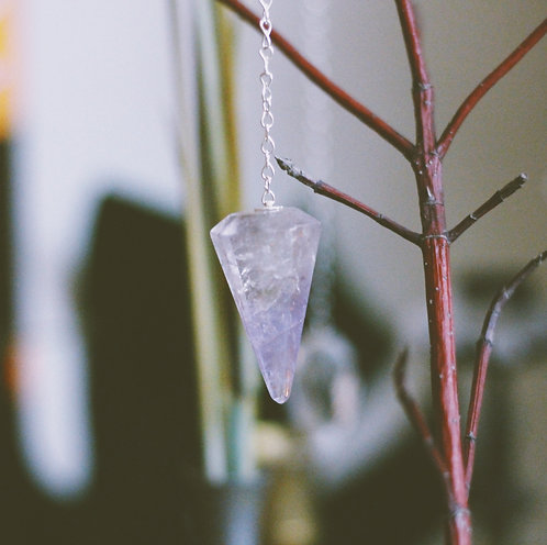 Pendulum-Faceted Amethyst Crystal  (Brazilian)