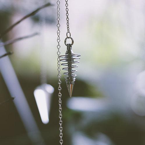 Pendulum-Gold/ sliver plated Point Spiral