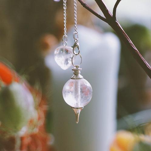 Pendulum-Clear Quartz Sphere