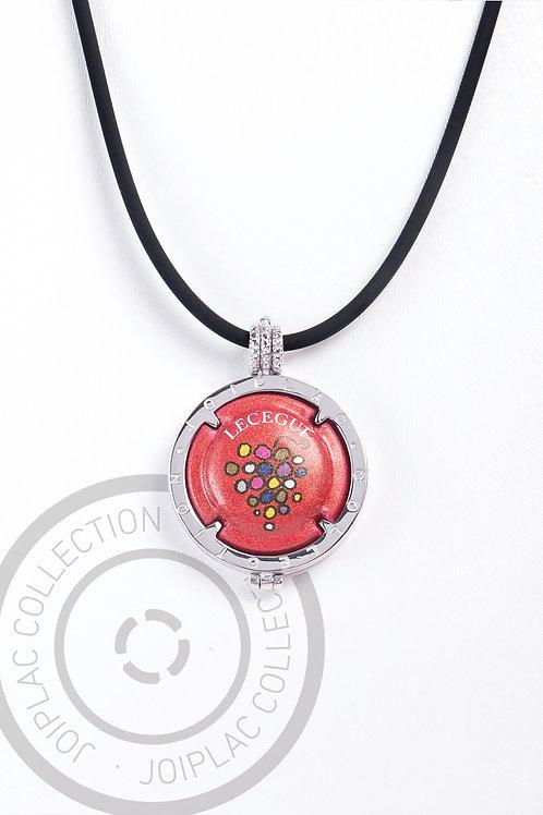 Joiplac plata / cadena caucho
