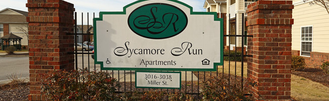 Sycamore Run Apartments Monument Sign