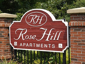 Rose Hill Apartments Monument Sign