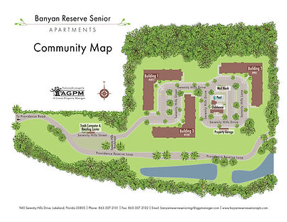 Banyon Reserve Senior Community Map