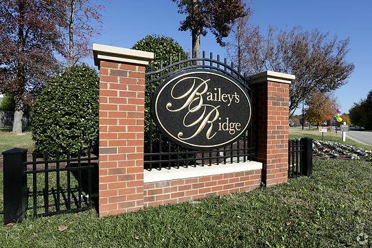 Baileys Ridge Monument Sign