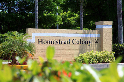 Homestead colony monument sign