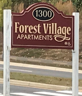 Forest Village Apartments Monument Sign
