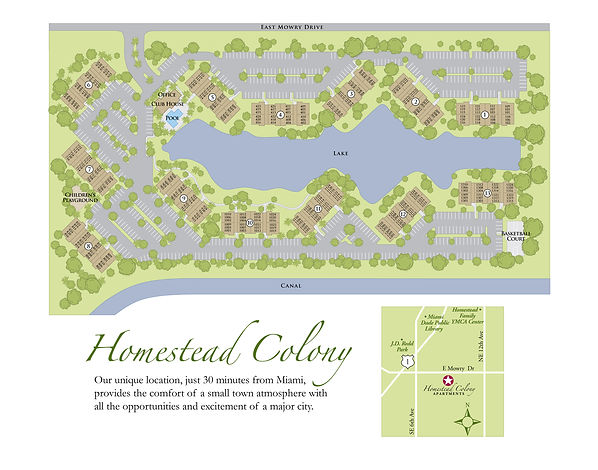 Homstead colony apartments site map