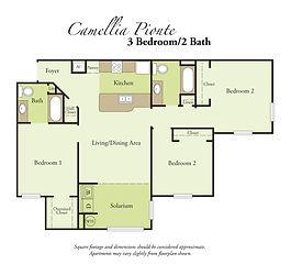 3 Bedroom, 2 Bath Floor Plan