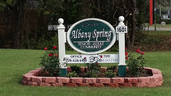Albany Spring Monument Sign