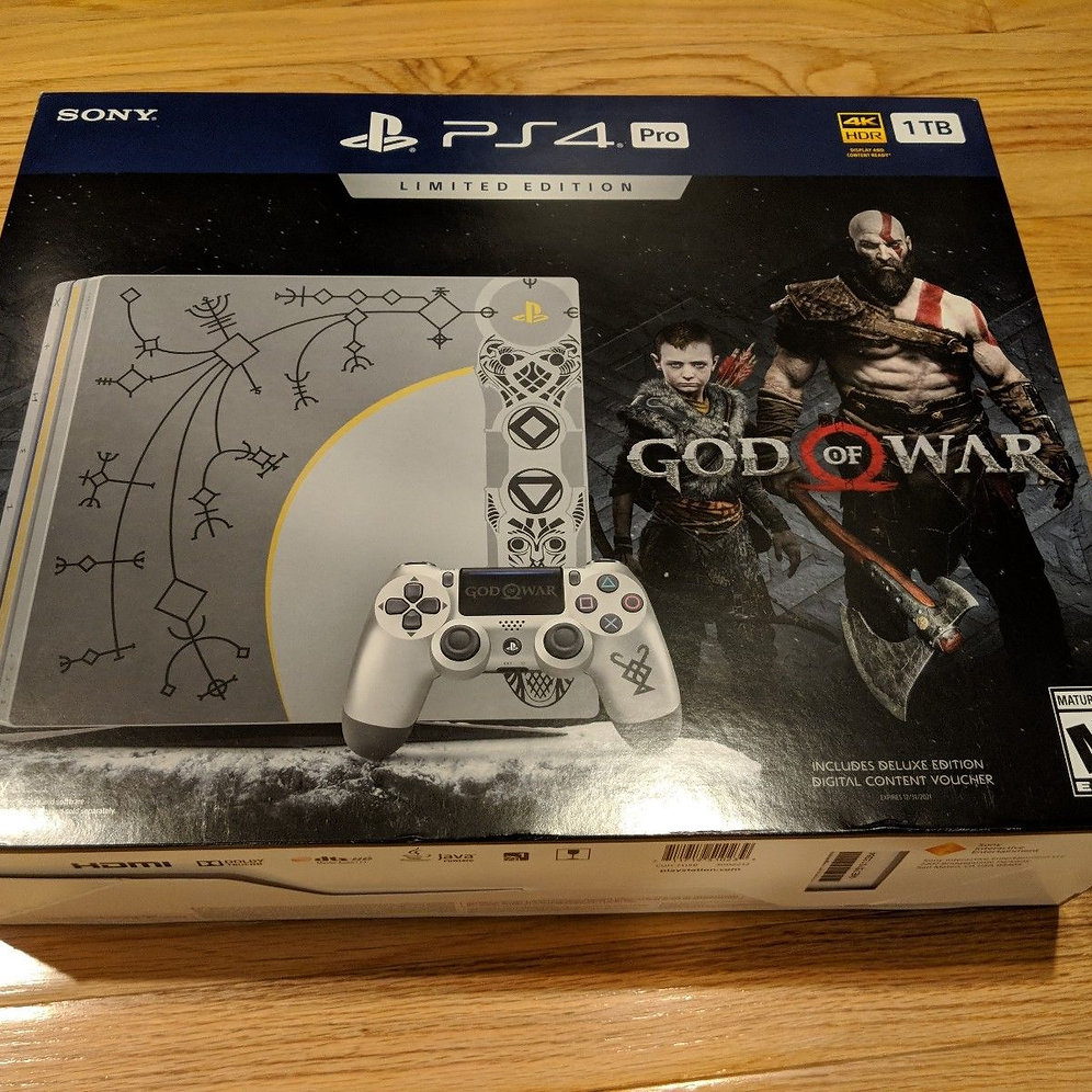 God Of War Playstation Ps4 Pro Bundle 1tb Limited Edition Brand New