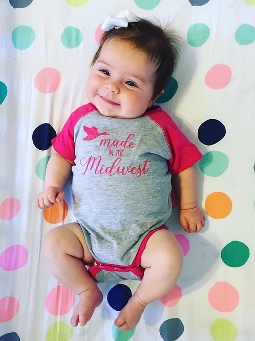 Made In The Midwest Onesies