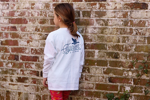 Youth Long Sleeve Classic Tee -- White