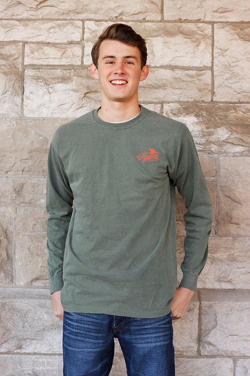 Long-Sleeve Midwest Mantra Classic  – Sage