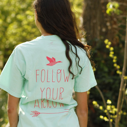 Follow Your Arrow Signature Clark Tee – Sea Foam