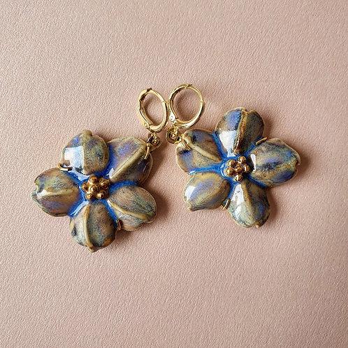 Brinco Margarida Azul