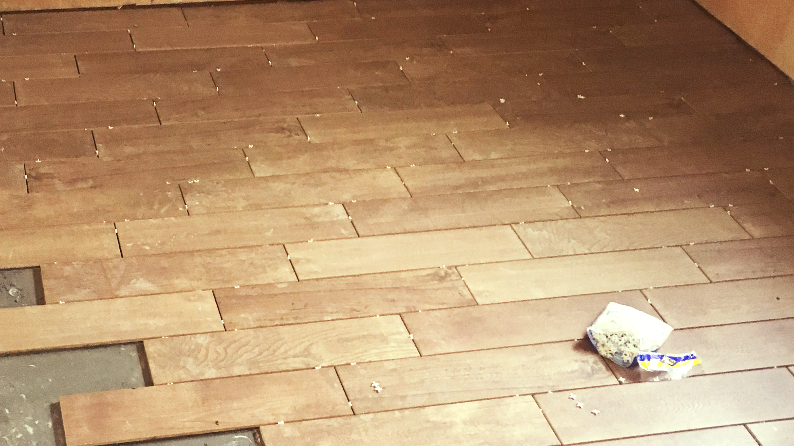 Flooring in Dining Area and Kitchen