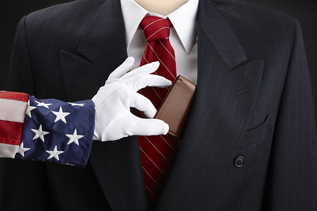 Close up shot of Uncle Sam picking the p