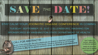 9/12/17- Save the Date for the 2017 Zoonotic Disease Conference