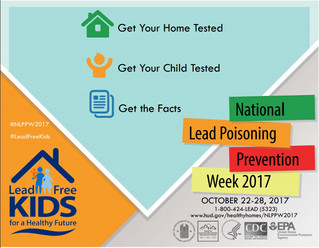 It's National Lead Poisoning Prevention Week!