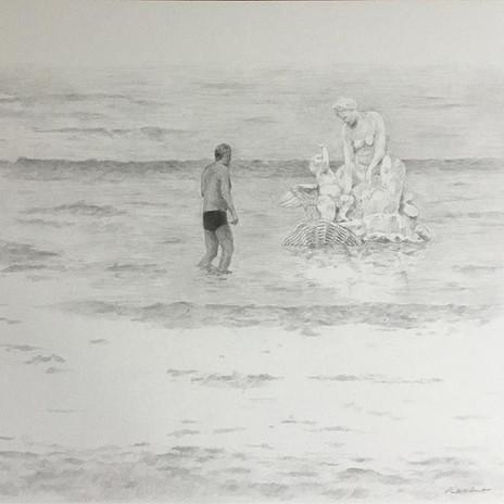 Dessin 30x40 crayon noir scène #frenchpa