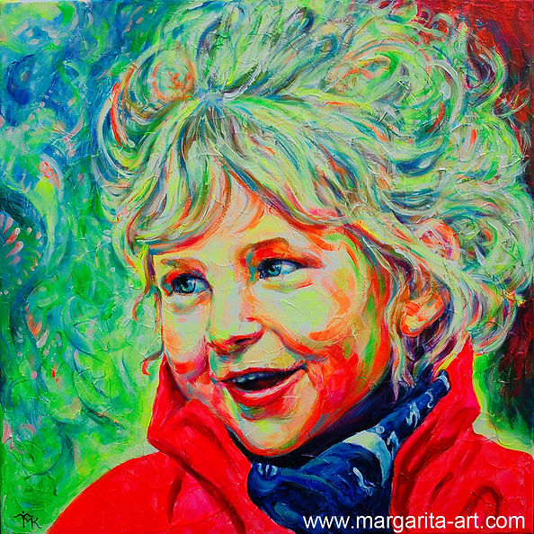 Pop-Art Porträt Mädchen Original Gemälde Auftragsarbeit