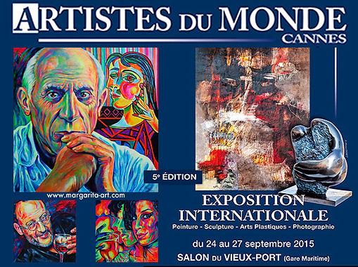 ARTISTES DU MONDE Cannes - Exposition Internationale 24. - 27. September 2015