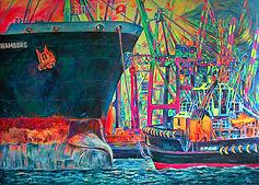 Faszination Hamburg Original Pop Art Gemälde von Margarita Kriebitzsch kaufen