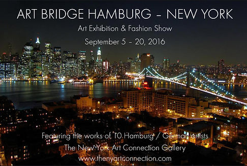 Margarita Kriebitzsch ART BRIDGE HAMBURG – NEW YORK Exhibition September 5 - 20, 2016 in New York