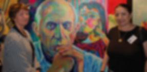 Madame Marina Picasso und Margarita Kriebitzsch - Pablo Picasso Portrait Cannes
