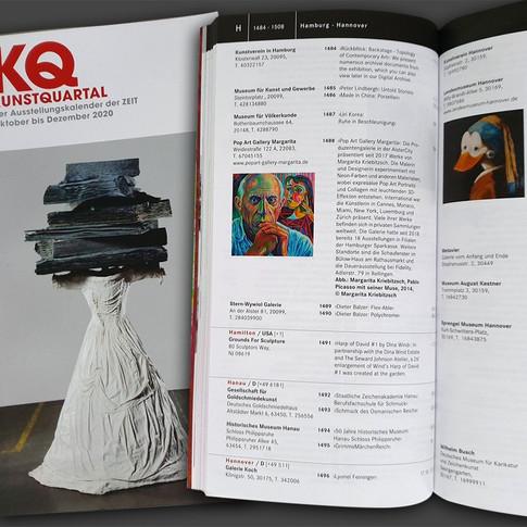 Pop Art Gallery Margarita in der Ausgabe 4.20 KQ KUNSTQUARTAL