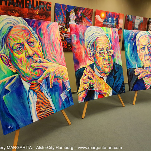 3 Porttraits von Helmut Schmidt