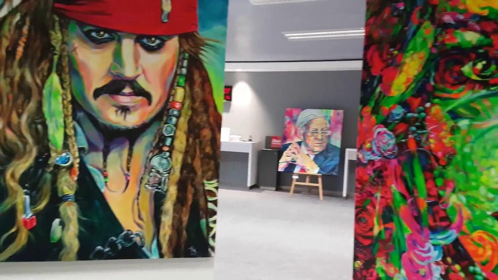 Pop Art Gallery Margarita bei HASPA Rahlstedt