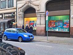 Schaufenster der Pop Art Gallery Margarita im Bülow-Haus Hamburg