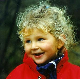 Foto-Vorlage für das Portrait eines Mädchens