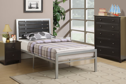 twin size metal bed this bed is a platform bed mattress is not included but are available colors silver - Full Size Metal Bed Frames