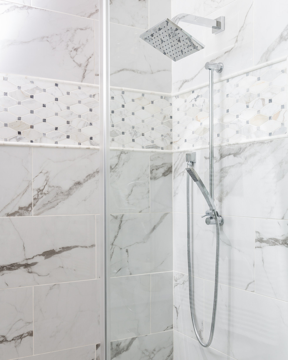 Marble Guest Shower