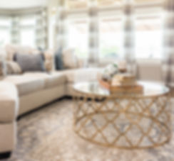 No living room is complete without rugs and draperies. Window Treatments help make a home feel polished and complete. These are the bones to decorating.