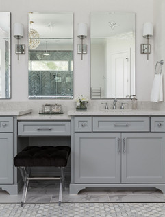 Soothing Vanity Colors and Mirrors