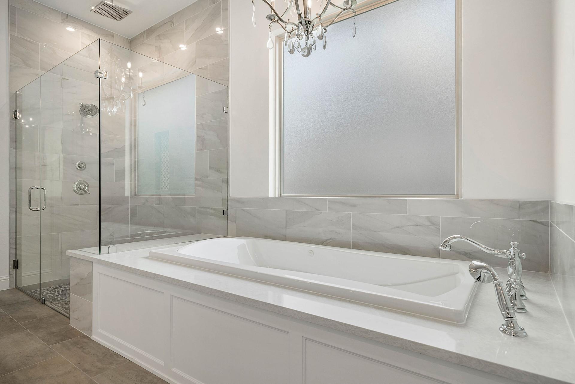 Master Bathroom Tub and Shower detail