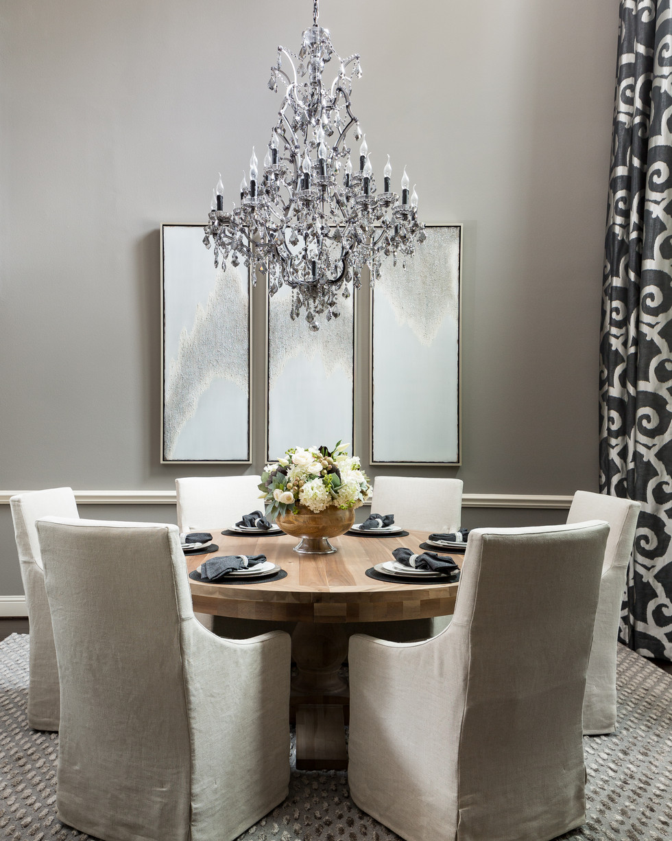 Industiral Glam Dining Decor