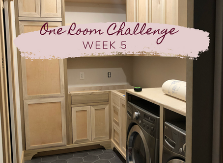 One Room Challenge - Fall 2019 - Week 5