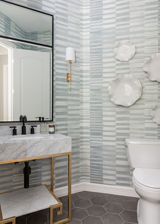 Wallpapered Powder Bath
